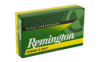 Remington Core Lokt, 300 WIN MAG, 180 Grain, Pointed Soft Point, 20 Round Box 29497, UPC : 047700055800