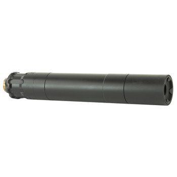 Rugged Suppressors Obsidian 45 with ADAPT Modular Technology, Pistol Suppressor, .45 ACP, Includes .578X28 Piston, Aluminium Tube, 17-4 PH Baffles, Black Cerakote Finish OBS0145, UPC :859383006020