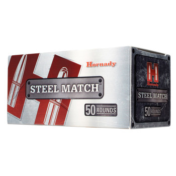 Hornady Steel Match, 223REM, 75 Grain, Boat Tail Hollow Point, Steel Case, 50 Round Box 80261, UPC : 090255802610