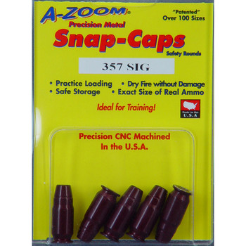 A-Zoom Snap Caps, 357 Sig, 5 Pack 15159, UPC :666692151590
