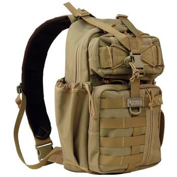 "Maxpedition Gearslinger Sitka Backpack, 15""x8""x3"", Khaki 0431K, UPC :846909004790"