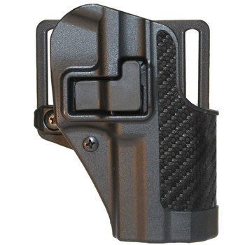BLACKHAWK! CQC SERPA Holster With Belt and Paddle Attachment, Fits Beretta PX4, Right Hand, Carbon Fiber, Black 410028BK-R, UPC :648018142550