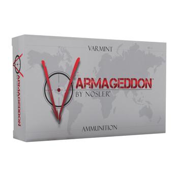 Nosler Varmageddon, 223 Rem, 55 Grain, Flat Base Hollow Point, 20 Round Box 65140, UPC : 054041651400