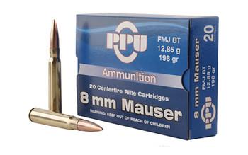 Prvi Partizan Rifle, 8MM Mauser, 198 Grain, Full Metal Jacket, 2 Round Box PP8F, UPC :8605003812920