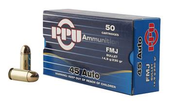 Prvi Partizan Pistol, 45 ACP, 230 Grain, Full Metal Jacket, 50 Round Box PPH45F, UPC :8605003813170