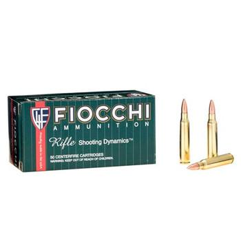 Fiocchi Ammunition Rifle, 223 Remington, 62 Grain, Full Metal Jacket Boat Tail, 50 Round Box 223C, UPC :762344706580
