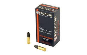 Fiocchi Ammunition Rimfire, 22LR, 40 Grain, Hollow Point, Subsonic, 50 Round Box 22FHPSUB, UPC :762344710020