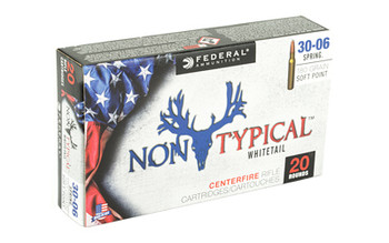 Federal Non Typical, 30-06, 180Gr, Soft Point, 20 Round Box 3006DT180, UPC :604544627060