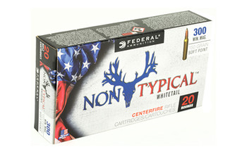 Federal Non Typical, 300 Win, 150Gr, Soft Point, 20 Round Box 300WDT150, UPC :604544627190