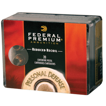 Federal Premium Personal Defense (LR), 38 Special, 110 Grain, Hydra-Shok Jacketed Hollow Point, Low Recoil, 20 Round Box PD38HS3H, UPC : 029465092030