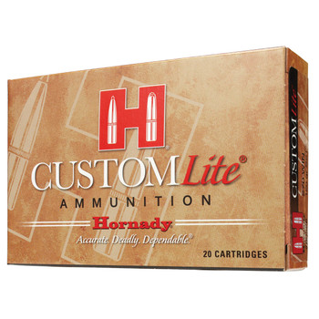 Hornady Custom Lite, 30-06, 125 Grain, SST, Low Recoil, 20 Round Box 81066, UPC : 090255810660