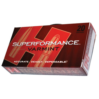 Hornady Superformance, 243WIN, 58 Grain, V-Max, 20 Round Box 8343, UPC : 090255383430