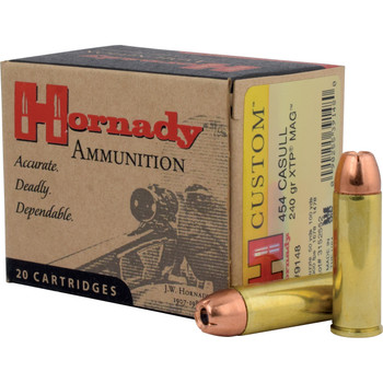 Hornady Hunting, 454 Casull, 240 Grain, XTP, 20 Round Box 9148, UPC : 090255391480