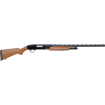 "Mossberg 500, Pump Action, 12 Gauge, 3"" Chamber, 28"" Vent Rib Barrel, AccuChoke, Blue Finish, Wood Stock, Bead Sight, 5Rd, Ported 50120, UPC : 015813501200"
