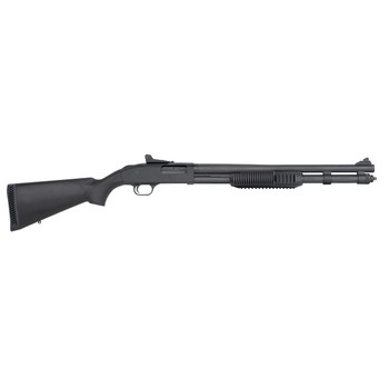 "Mossberg 590, Security Tactical, Pump Action, 12Ga 3"", 20"" Barrel, Matte Blued Finish, Synthetic Stock, Cylinder, 8Rd, Tri-Rail Forend, Ghost Ring Sight 50670, UPC : 015813506700"