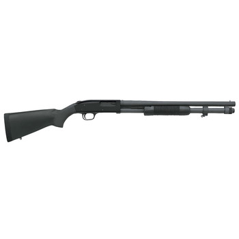 "Mossberg 590A1, Special Purpose, Pump Action, 12 Gauge, 3"" Chamber, 20"" Heavy Wall Barrel, Parkerized Finish, Synthetic Stock, Bead Sight, 8Rd, 51660, UPC : 015813516600"