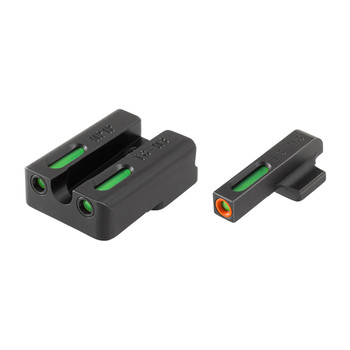 Truglo Brite-Site TFX Pro, Sight, Fits VP9,VP40,P30,P30SK,P30L,45  45TACTICAL (Including Compact), Tritium/Fiber-Optic, Day/Night Sight, 24/7 Brightness, Orange Ring on Front Sight TG13HP1PC, UPC :788130022740