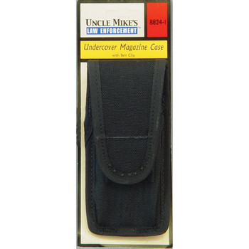 Uncle Mike's Cordura Undercover Case, Fits Single Magazine, With Clip, Black 8824-1, UPC : 043699882410