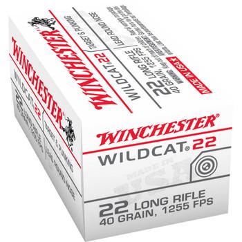 Winchester Ammunition Wildcat, 22LR, 40 Grain, Lead Round Nose, 50 Round Box WW22LR, UPC : 020892100060