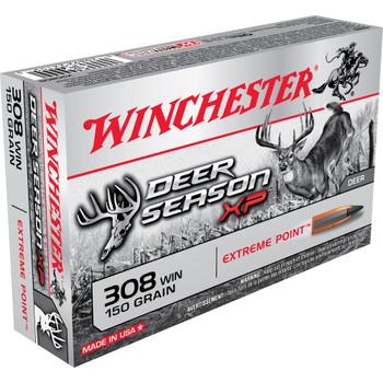 Winchester Ammunition Deer Season, 308 Win, 150 Grain, Extreme Point Polymer Tip, 20 Round Box X308DS, UPC : 020892221550