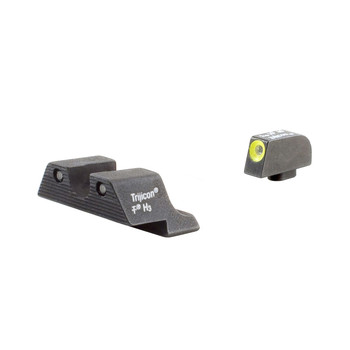 Trijicon HD Tritium Night Sights, Fits Glock, Yellow Outline GL101Y, UPC :719307209640