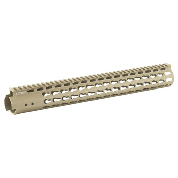 "Leapers, Inc. - UTG Handguard, Fits AR Rifles, 15"" Super Slim, Free Float Keymod, Flat Dark Earth Cerakote MTU019SSKD, UPC :4717385550520"