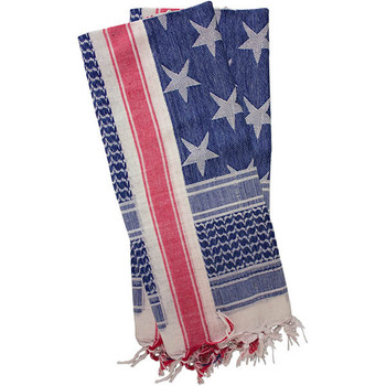Red Rock Gear Shemagh Head Wrap USA Stars and Stripes, UPC :846637009630