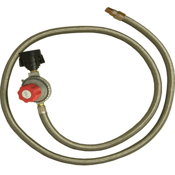 King Kooker #30502-HP Regulator and SS Hose-Female Flare End, UPC : 081795305020