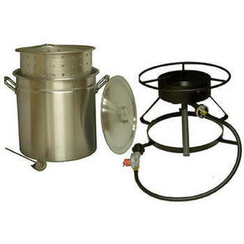 King Kooker #5012-50 Qt. Aluminum Pot and Cooker Pkg, UPC : 081795501200