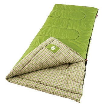 Coleman Green Valley 75x33 Inch Rectangle Sleeping Bag Green, UPC : 076501048650