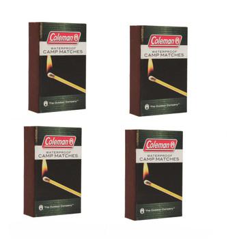 Coleman 4 Pk Waterproof Matches 2000015174, UPC : 076501922240