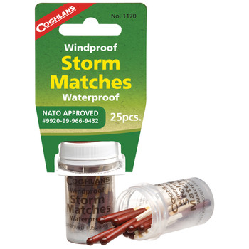 Coghlan's Windproof  Waterproof Storm Matches Tube of 25, UPC : 056389011700