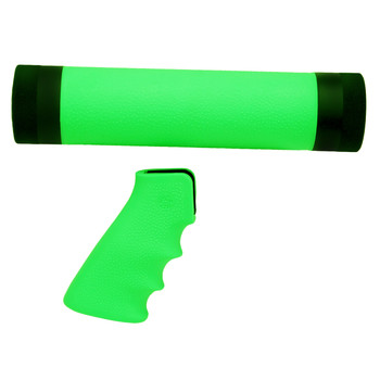 AR-15/M-16 (Mid Length) Kit OM Grip and Free Float Forend Zombie Green, UPC :743108150290