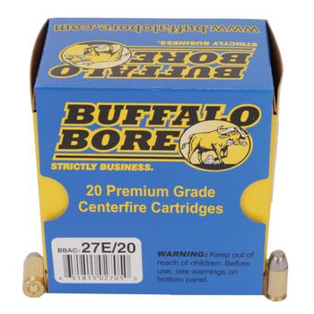 Buffalo Bore Ammunition 380 ACP 100 Grain Hard Cast Lead Flat Nose Box of 20, UPC :651815027050