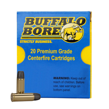 Buffalo Bore Ammunition 38 Super +P 124 Grain Jacketed Hollow Point Box of 20, UPC :651815033020