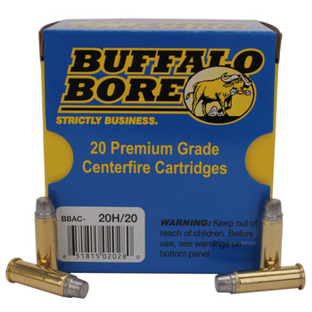 Buffalo Bore Ammunition Outdoorsman 38 Special +P 158 Grain Hard Cast Lead Semi-Wadcutter Box of 20, UPC :651815020280
