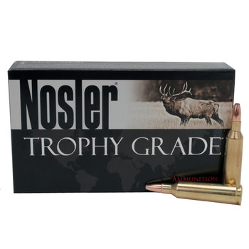 Nosler Trophy Grade Ammunition 22-250 Remington 64 Grain Bonded Solid Base Box of 20, UPC : 054041600170