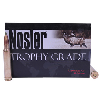Nosler Trophy Grade Ammunition 338 Winchester Magnum 225 Grain E-Tip Box of 20, UPC : 054041600880