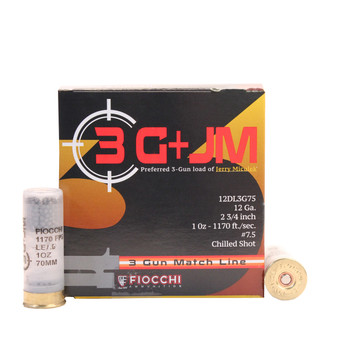 CASE OF 10 3-GUN MATCH 12GA 2.75IN 1 OZ. 25/BX, UPC :762344711430