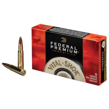 Federal Premium Vital-Shok Ammunition 7mm Remington Magnum 140 Grain Trophy Copper Tipped Boat Tail Lead-Free Box of 20, UPC : 029465063450