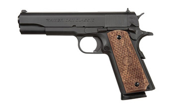 "American Classic 1911, Full Size, 9MM,  5"" Barrel, Steel Blue Finish, Wood Grips, 3 Dot Sight, 1 Magazine, 9 Rounds AC9G2B, UPC :728028236545"