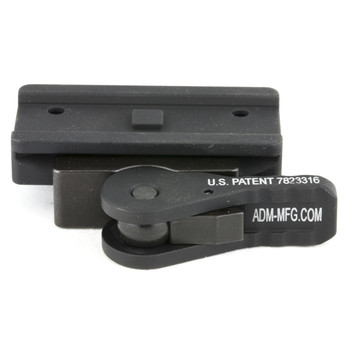 American Defense Mfg. Mount, Fits Aimpoint Micro T-1, Quick Release, Low, Black AD-T1-L, UPC :818503010385