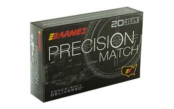 Barnes Precision Match, 338 Lapua, 300 Grain, Open Tip Match Boat Tail, 20 Round Box 30728, UPC :716876150915