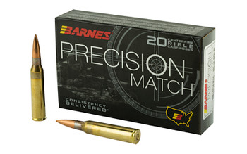 Barnes Precision Match, 338 Lapua, 300 Grain, Open Tip Match Boat Tail, 20 Round Box 30728, UPC :716876150915