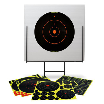 "Birchwood Casey Portable Shooting Range and Backboard, 13 Shoot-N-C Targets, 58 1"" Pasters 46101, UPC : 029057461015"