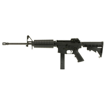 """Colt's Manufacturing AR6951 Semi-automatic AR, 9MM, 16.1"""" Barrel, Magpul Flip Sights, Black Finish, 4 Position Collapsible Stock, 32Rd AR6951, UPC : 098289023285"""