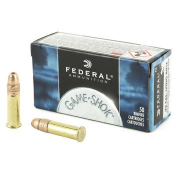 Federal GameShok, 22LR, 38 Grain, Copper Plated Hollow Point, 50 Round Box 712, UPC : 029465056155
