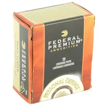 Federal Hydra-Shok, 9MM, 147 Grain, Hollow Point, 20 Round Box P9HS2, UPC : 029465088095