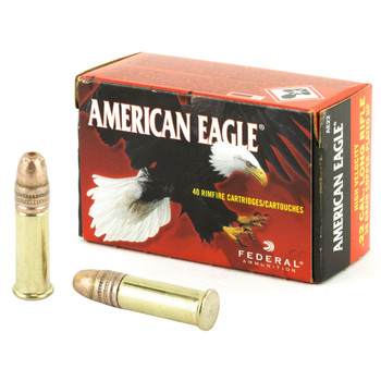 Federal American Eagle, 22LR, 38 Grain, Hollow Point Copper Plated, High Velocity, 40 Round Box AE22, UPC : 029465016845