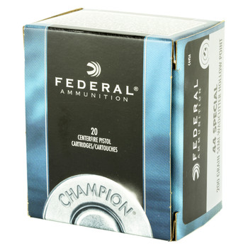 Federal Champion, 44 Special, 200 Grain, Semi Wadcutter Hollow Point, 20 Round Box C44SA, UPC : 029465093075